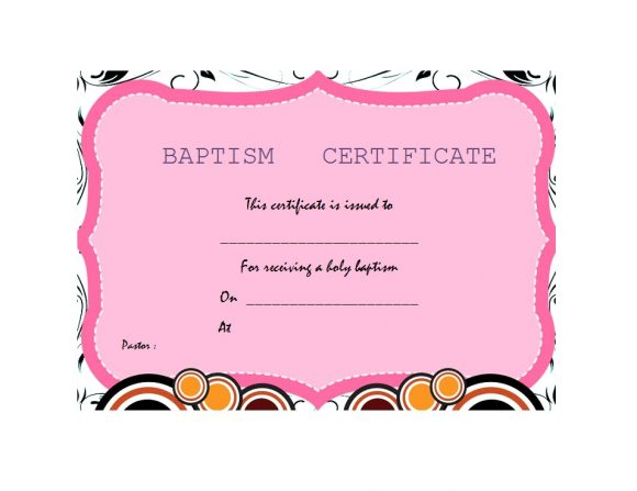 Baptism Certificate Template 13