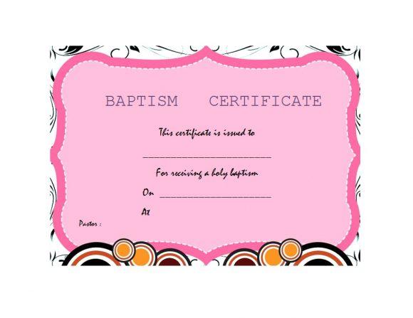 Baptism Certificate Template 13