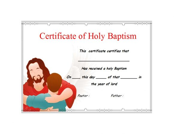 Baptism Certificate Template 15