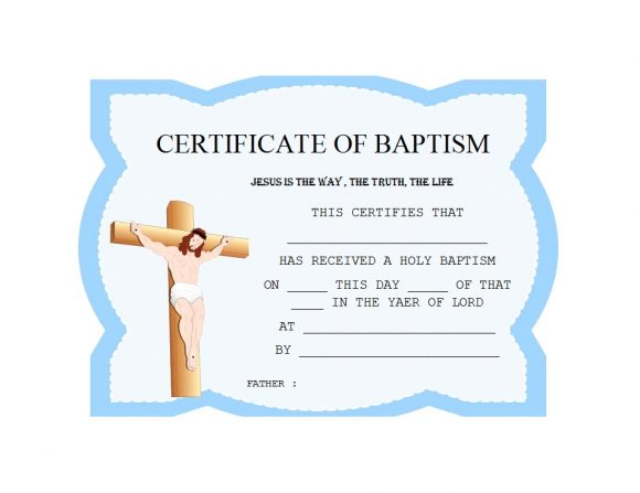 Baptism Certificate Template 16