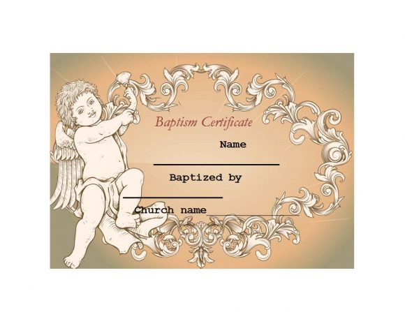 Baptism Certificate Template 19