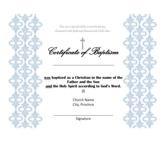 Baptism Certificate Template 20