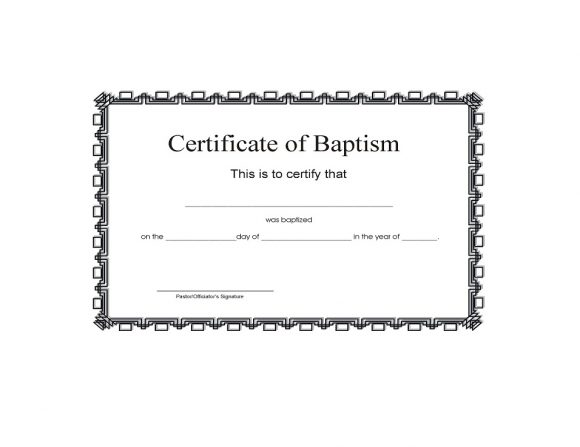 Baptism Certificate Template 21