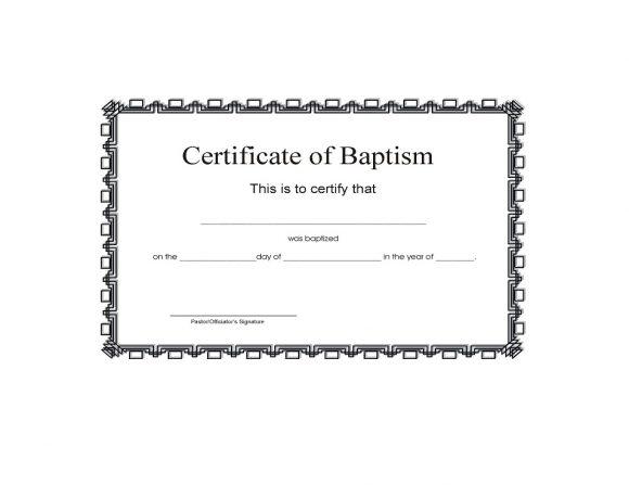 Baptism Certificate Template 21
