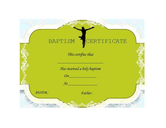 Baptism Certificate Template 23