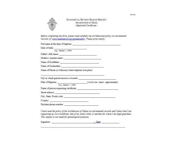 Baptism Certificate Template 27