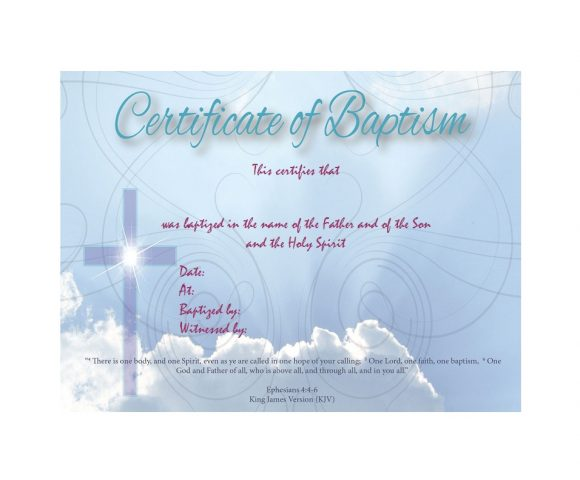 Baptism Certificate Template 28