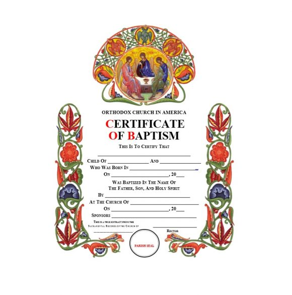 Baptism Certificate Template 29