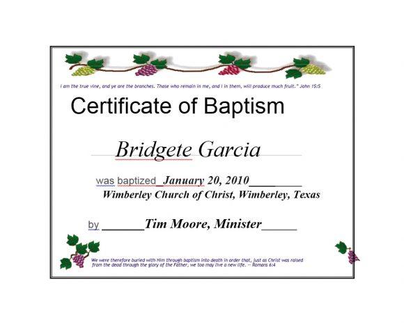 Baptism Certificate Template 30