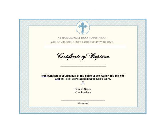 Baptism Certificate Template 33