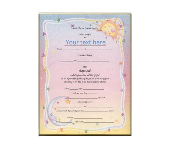 Baptism Certificate Template 34