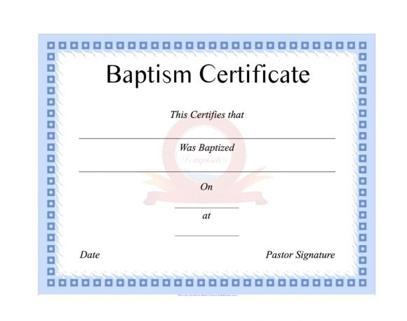 Baptism Certificate Template 36
