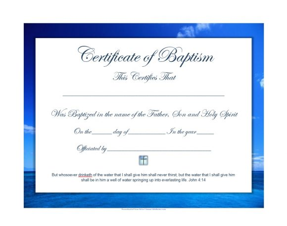 Baptism Certificate Template 37