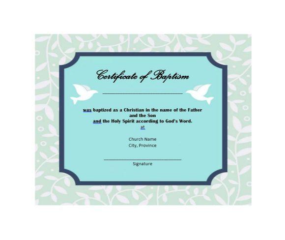 Baptism Certificate Template 41