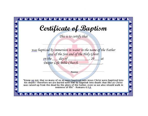 Baptism Certificate Template 42