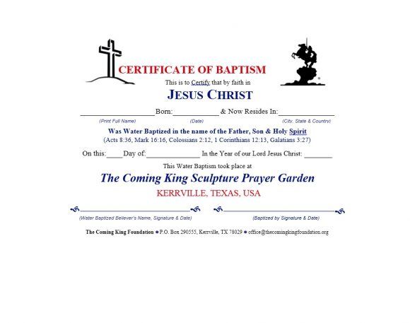Baptism Certificate Template 44