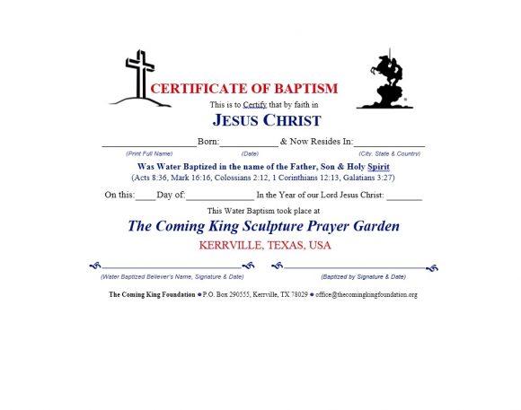 Baptism Certificate Template 44