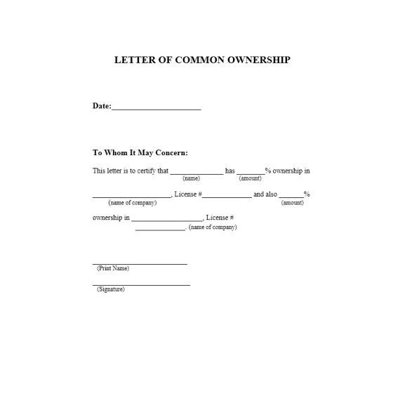 Certificate of Ownership Template 04