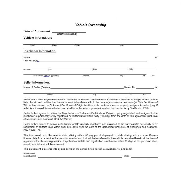 Certificate of Ownership Template 06