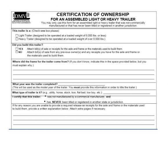 Certificate of Ownership Template 08