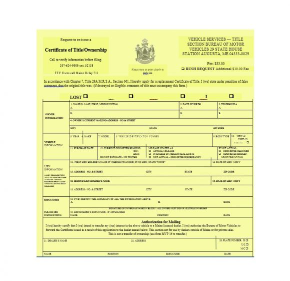 Certificate of Ownership Template 32