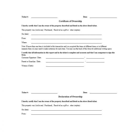 Certificate of Ownership Template 36