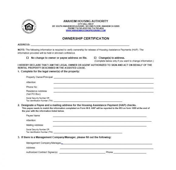Certificate of Ownership Template 40
