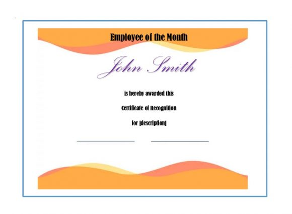 Certificate Of Recognition Template | 50 Free Certificate Of Recognition Templates Printable Templates
