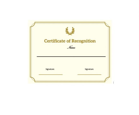 Certificate of Recognition 05