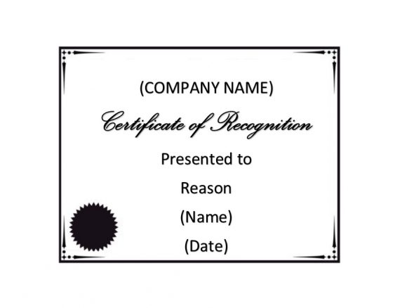 Certificate of Recognition 07