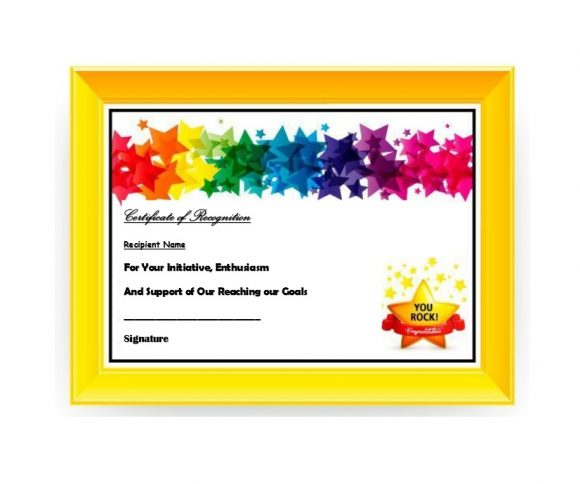 Certificate of Recognition 10