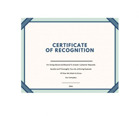 Certificate of Recognition 11