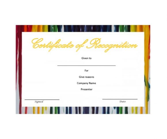 Certificate of Recognition 14