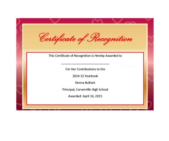 Certificate of Recognition 15