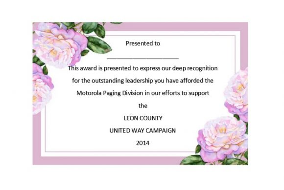 Certificate of Recognition 22