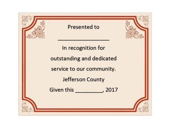 Certificate of Recognition 24