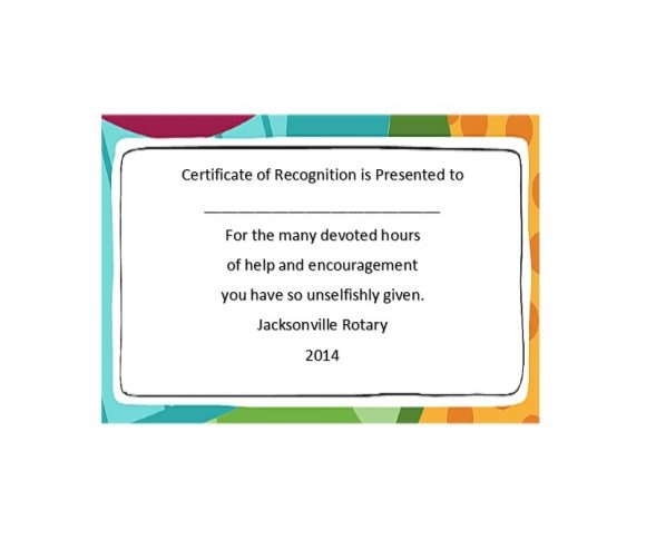 Certificate of Recognition 27