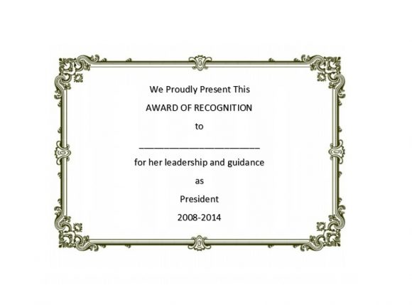 Certificate of Recognition 30