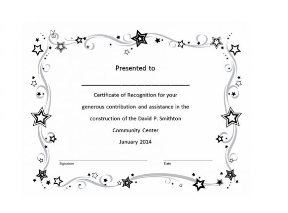 Certificate of Recognition 32