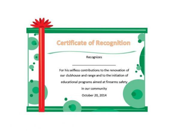 Certificate of Recognition 33