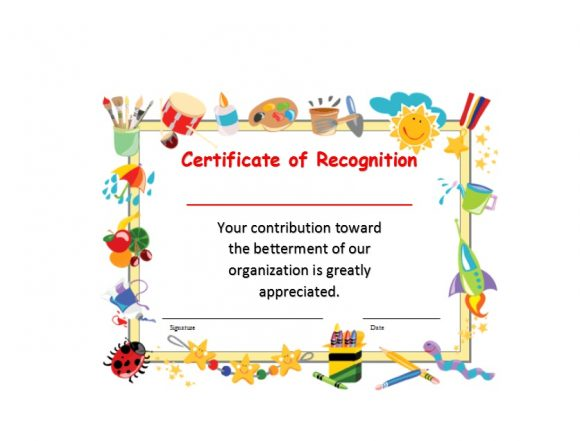 Certificate of Recognition 34