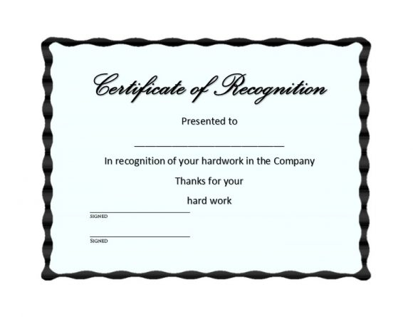 Certificate of Recognition 35