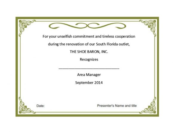 Certificate of Recognition 36