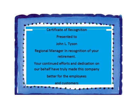 Certificate of Recognition 37