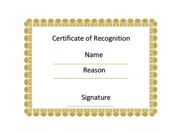 Certificate of Recognition 39