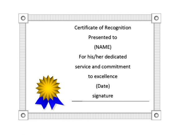 Certificate of Recognition 44