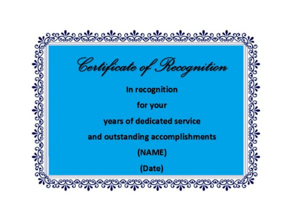 Certificate of Recognition 47