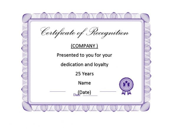 50 free certificate of recognition templates printable templates certificate of recognition 48 yadclub Gallery