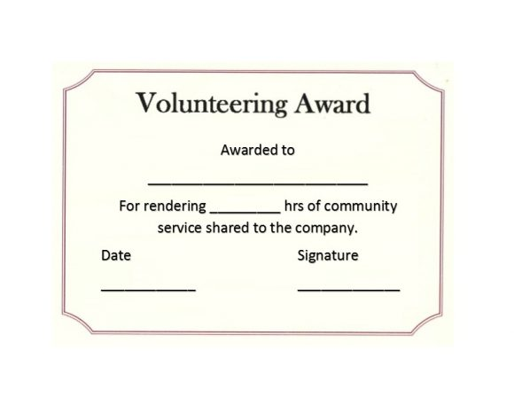 Volunteering Certificates 07