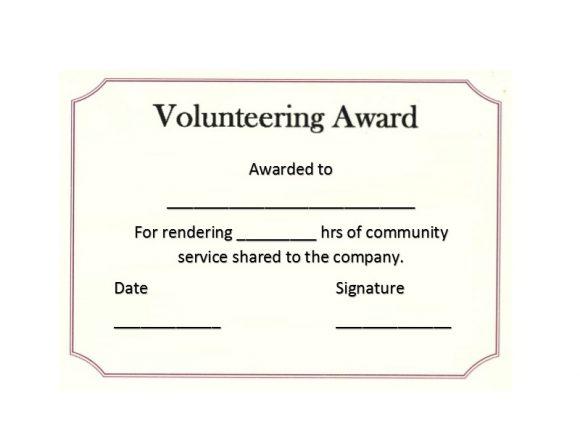 Volunteering Certificates 07